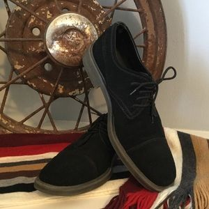 Men's black suede leather Oxford Calvin Klein